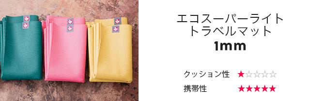 マンドゥカ/エコスーパーライト トラベルマット【1mm】
