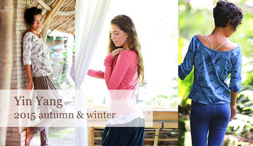 インヤンの秋冬モデルのヨガウェア