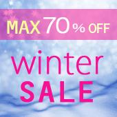 MAX70%OFF!冬のスーパーセール開催中