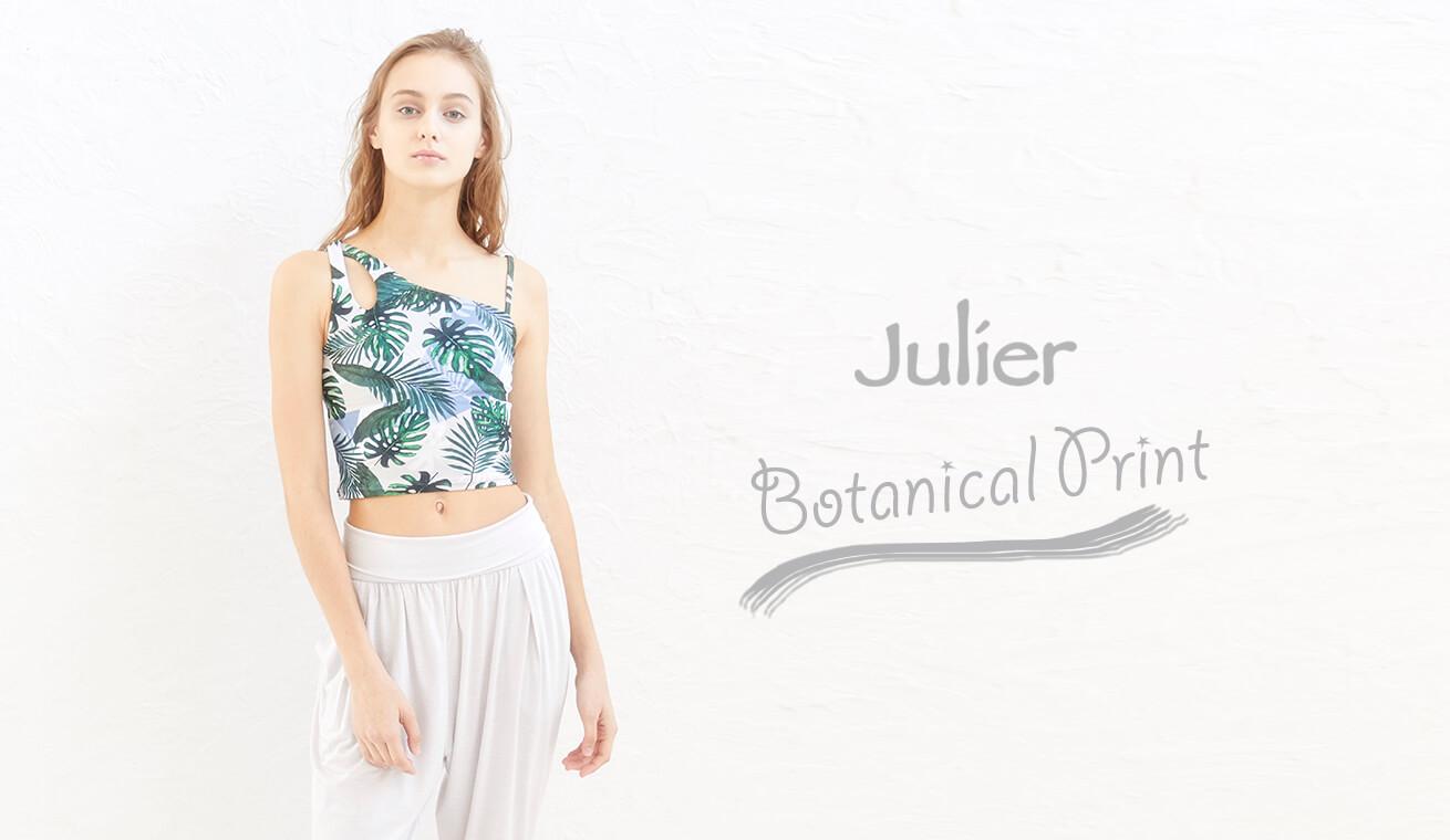ジュリエのボタニカルプリントなヨガウェア