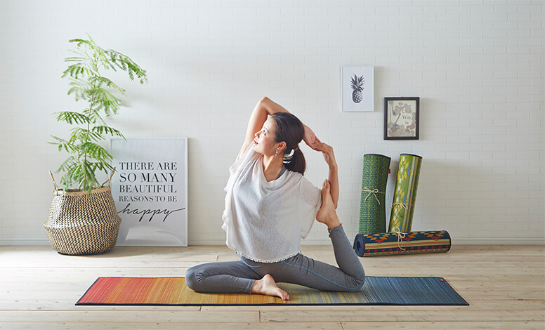 畳ヨガ|お洒落で可愛い新感覚のヨガマット